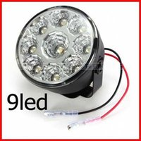Wholesale 2x LED Car Front Fog Tail Lamp Round Daytime Driving Running Light j