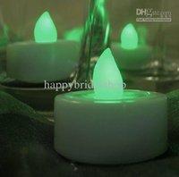 achat en gros de couleur verte conduit bougie-Livraison gratuite - Décoration Flameles Haute Qualité-12PCS Vert Couleur LED Candle Tea Light Lamp Wedding Party