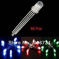 Wholesale Brand New mm Round Head Common Anode RGB Light LED Emitting Diodes