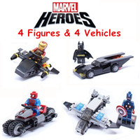 avengers gift set - 4 Figures Vehicles Marvel The Avengers High Quality Building Bricks Blocks Sets Figures Minifigures Learning Toy Children Christmas Gift