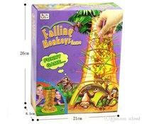 Wholesale 48pcs hot sales desktop games falling tumbling monkeys toys board game monkeys parent child interactive educational toys