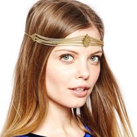 accessories coupons - Fashion Head Jewelry Gold Chain Head Chain Headband Hair Crown Hair Jewelry Accessories CF091 coupon