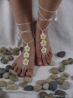 al por mayor amarilla de la boda zapatos de dama de honor-Sandalias descalzas, zapatos de playa, dama de honor descalzo, regalo para ella