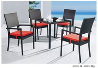 rattan outdoor furniture - Shunde furniture factory supply promotion sales outdoor rattan garden chair and table