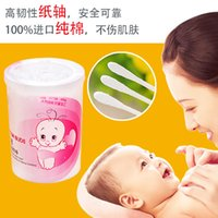 Wholesale C07 newborn baby cotton swab thin shaft swab swab baby cotton swab child headed