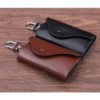 Wholesale custom leather key bag car bag leather fashion trends fashion key bag men and women