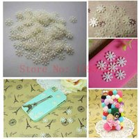 christmas crafts - mm White Snowflake Flat Pearl Embellishments christmas Wedding Birthday Party Decoration DIY Crafts