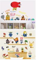 Wholesale 150pcs new arrive designs cartoon Zootopia wall stickers D wallpapers wall decals children removable PVC wallpaper baby room D602