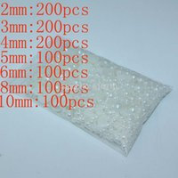 Wholesale mm mm mm mm mm mm mm white DIY Half Round Pearls Flat Back Scrapbook Craft