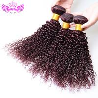 Wholesale Brazilian Hair Human Hair Weave Virgin Malaysian Hair Bundles Burgundy Red Peruvian Indian Malaysian Cambodian Kinky Curly Hair Extension A