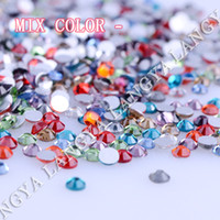 Wholesale Hight Quality Mixed Colors Crystal FlatBack Non HotFix Rhinestones Nai Art Decoration Clothing DIYl