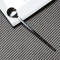Wholesale authentic grade stainless steel coffee spoon stirring spoon skillet spoon dessert smoothies round