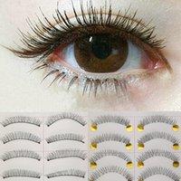 Wholesale 10Pairs New Makeup Handmade Soft Natural Fashion Long False Eyelashes Eye Lashes