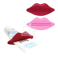 Wholesale New hot selling PC Sexy Hot Lip Kiss Bathroom Tube Dispenser Toothpaste Cream Squeezer Selling