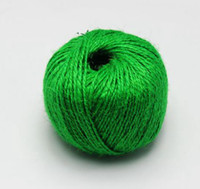 Wholesale Green Jute Twine100m Ply Decorative Handmade Accessory Hemp Rope bakers Twine Crafting Gift Wrapping lables hang tags