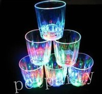 beer mug club - Mini LED Flashing New hot cola beverage cup luminous cup small flash beer cup bar Wine Cup Bar Parties Club Decorative Mug
