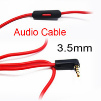 Wholesale Free DHL Replacement V2 Red mm Male to Male L Stereo Audio Cable with Control Talk for SOLO MIXR Headsets E17L