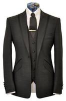 casual jacket - 2015 Fashion Jacket Pants Vest Tie Tuxedos Suits Lapel Fitting Men s Wedding Dress New Groomsman Wear Best Men Casual Men s Wear Custom