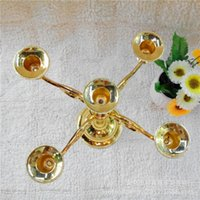 Wholesale Supply of the metal five candlesticks Continental Hotel Home Decoration wedding wedding film props Candle Holder
