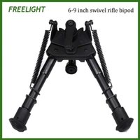 Wholesale 6 quot to quot Harris pivoting bipod with Locking Handle Kits for Swivel Bipod Adjustable height extendable legs Hinged base for hunting