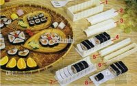 Wholesale round heart square design sushi mold mould set hand sushi maker rice moulding quality guranteed