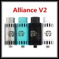 alliance ring - Square Insulator Alliance V2 RDA Vaporizer Kit with Extra Drip Tips and AFC Rings High Quality Clone Vape Full Mechanical Mods