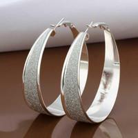 Wholesale Silver Earring Silver Fashion Jewelry New Arrivel Style Fashion Hoop Earring SMTE479
