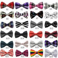 Wholesale Unisex Ties Grid dots lepord Adjustable Bow Tie Fashion bowties men s ties men s bow ties men bow tie pure color women lady bowtie