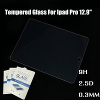 Wholesale 9H Genuine Explosion Proof Premium Tempered Glass Film Screen Protective Protector for iPad mini ipad pro air With retail package