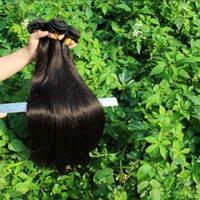 Wholesale Grade A Brazilian virgin hair straight Unprocessed Human Hair Weave Natural Black color Brazilian Hair