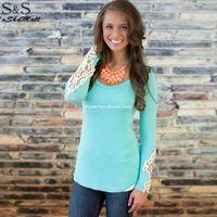 t shirts manufacturer - autumn Women s Clothing Blouses Shirts lace bottoming shirt cotton T shirt manufacturers factory drop ship
