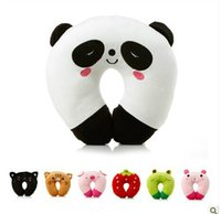 animal therapy - New Cute Cartoon Panda Animals Pattern Design Travel Car Home U Shape Neck Pillows Baby Headrest Pillow