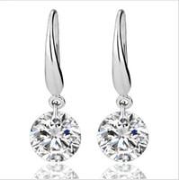 Wholesale US GIA certificate ct moissanite engagement earring for women K white gold moissanite heart shape gemstone earring for women