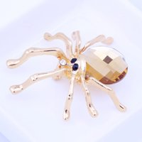 animal spider - Rhinestone Garment Decoration Accessories Bridal Wedding Dress Animal Spider Crystal Brooch Pin