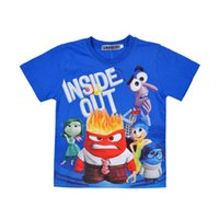 Wholesale Inside Out T shirt boys Summer Cotton Short Sleeve T shirts clothes children Mind Big Fight Boys Girls Baby Clothing Y