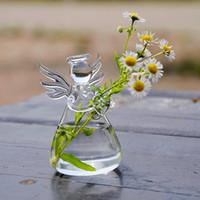 Wholesale Valentine s Day Gift Angel Glass Vase Handmade Flower Vase Fashion Holiday Gift Birthday Gifts