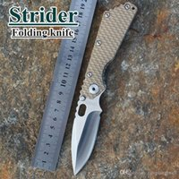 Wholesale 2015 HOT New Tactical Survival Folding Knife Strider SMF desert G10 Handle MSC Stainless Steel Blade Best quality A5