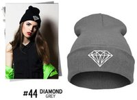 Wholesale Big promotion Hot Sale Winter Hat Cap Beanie Wool Knitted Men Women Caps Hats Diamond Embroidery Warm Beanies Unisex jy128
