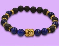 Wholesale mm New Stone Beads Men s Energy Yoga Meditation Bracelets Party Gift Jewelry