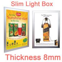 Wholesale Snap Box Frames - Advertising Slim Light Box 60x40cm Aluminum Frame Inclue LED Strips Light Source LGP Guide the Light Snap Struction Easily Change Film Poste