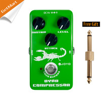 For Electric electric guitars amps - JOYO JF Dynamic Compressor Guitar AMP Effect Pedal True Bypass Green metal pedal