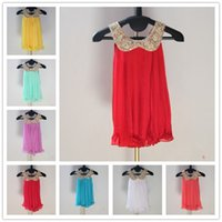children apparel - 2014 new princess girl party dress age gold collar pleated kid dress teenage children apparel clearance