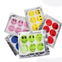 Wholesale Colorful cartoon smiley stickers baby adult mosquito repellent paste patch sticker perfume Prevent mosquito bites