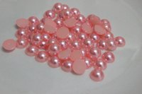 Wholesale mm Pale pink High quality beautiful purple Half round pearl beads scrapbook Arts and crafts diyDIY