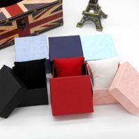 achat en gros de coffret cadeau usine-Gros-45pcs / lot usine Boîtes de montres en gros Avec Oreiller Coffret Emballage cadeau Bijoux montre-bracelet boîte-cadeau Montres cas