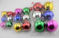 venda por atacado christmas decorative ornaments-Seis peça 1,2-3,9 polegadas de plástico Bauble do Natal decorativas bolas para decorar Chrismas Árvore de Natal ornamentos bola CB0102
