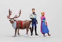 Wholesale 4set Frozen Decoration gift princess Anna Elsa Figure Play Set children s kids boy s girl s toys Desktop furnishing articles ornaments