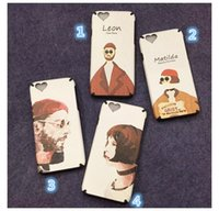 apple hat pattern - For iPhone s Plus Cases Classic Movie The killer Lovers Heart Red hat Ultra Thin Silk pattern Shell Back Cover Case