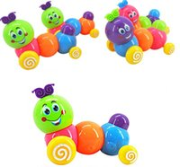 Pink caterpillars - Funny Cute Baby Kids Caterpillar Twist Forward Movement Clockwork Winter Toys Newest Arrival Clockwork caterpillar Children sEducational