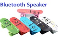 mini skateboard - Bluetooth speaker Skateboard Wireless Speaker Mobile Audio Mini Portable Speakers with retail package For iPhone Galaxy S6 DHL FREE